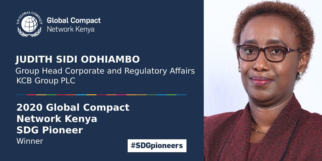 Global Compact Network Kenya recognizes Judith Sidi Odhiambo for championing the Sustainable Development Goals