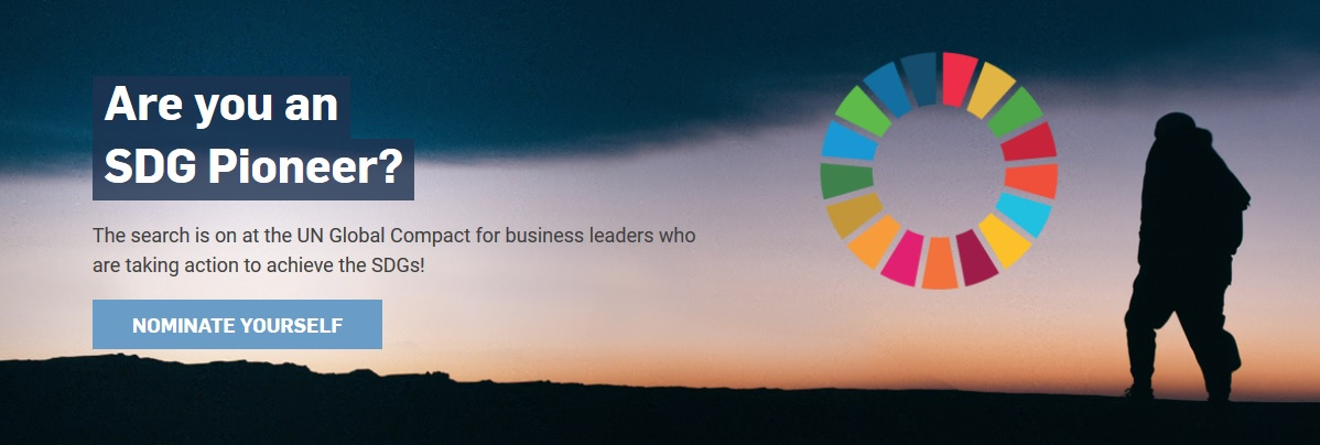 Are You the Next SDG Pioneer? Nominate Yourself